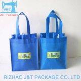 習慣によって印刷されるロゴの再生利用できる非編まれたショッピング・バッグのトートバック