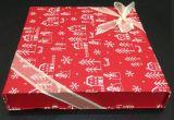 Forma de libro de caja de regalo de Navidad con cinta para Cosmética establece