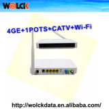 2015 Hot FTTH Gpon ONU 4FE+WiFi+CATV+pot Home Gateway