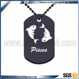 Искусства и ремёсел пользовательское имя печати собака метка с ожерельем