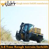 Vorkheftruck Manufactory van het Terrein van Welift 3.5t 4WD de Ruwe