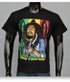 3D-череп, пистолет, животных, Bob Marley, Торговой марки музыки регги коромыслами Hip-Hop Шансон T футболки на заказ