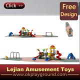 セリウムの品質の子供の好意の屋外のプラスチック運動場(X1502-5)