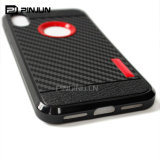 Zellen-/Handy-Fall der Kohlenstoff-Faser-TPU für iPhone X 8 8plus 7 Plus