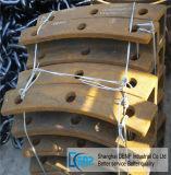 L'usura del frantoio a mascella del pezzo fuso d'acciaio parte il piatto laterale della guancica