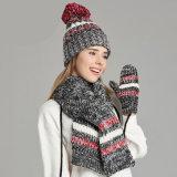 Geplaatste de Handschoenen van de Sjaal van de Hoed van de katoenen Winter van Vrouwen