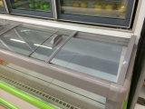 Congelatore di frigorifero a doppia temperatura della vetrina del supermercato di vendita calda