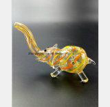 Het gele Recycling van de Filter van de Waterpijp van het Glas van de Waterpijp van de Olifant