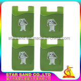 カスタマイズされた柔らかいプラスチッククレジットカードのホールダー、シリコーンのカードの可動装置の袖