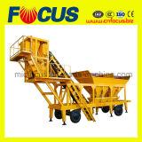 Planta móvil de procesamiento por lotes por lotes del tratamiento por lotes de la planta Yhzs35 del cemento móvil