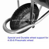 農業の一輪車のプラスチック皿の手押し車Wb5600