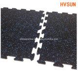 Cubierta de goma del rompecabezas de EPDM de la gimnasia del suelo de goma del azulejo