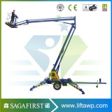6m 10m Towable 끌린 붐 Manlift