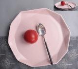 Quadrato complesso della ciotola della ciotola di ceramica di colore rosa del quadrato del ristorante di personalità