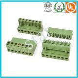 工場は5.08mmピッチの男女のプラグイン可能なプラスチック端子ブロックを供給する