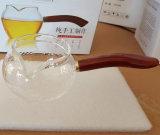De met de hand gemaakte Duidelijke Kokende Theepot van het Glas met ZijHandvat