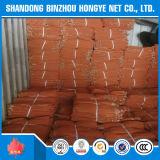 Rede de segurança da construção do HDPE/rede alaranjada do andaime