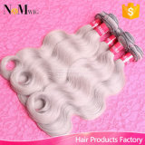 灰色の毛の織り方7AブラジルのRemyの毛ボディ波100g/PCS Brazilian Hair Extensions Grey Human Hair Weaving Brand Hair Company