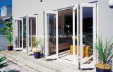 Австралийский стиле плоской панели порога двойной алюминиевый Bifold низкого E СТЕКЛА ДВЕРИ