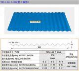 La tôle ondulée enduite de tuile de toit de couleur de PPGI/acier de couleur/a ridé la feuille de toiture