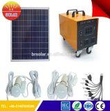 100W casa usando o Sistema de Energia Solar Portátil