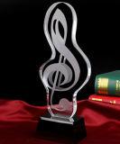Concesión cristalina magnífica del trofeo 2017 para el recuerdo de la música