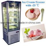 - 3개의 측 전시 유리를 가진 강직한 아이스크림 냉장고 25 도