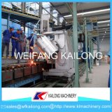 Ligne de moulage automatique de fonderie de sable de vert de machine de bâti de qualité