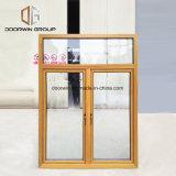 Janela de madeira janelas de vidro triplo de vidro temperado