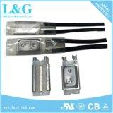 fusibile termico bimetallico di temperatura della protezione di risistemazione manuale 17am+PTC
