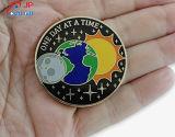 Alta qualità personalizzata Sun, Glob, moneta di prova rotonda del reticolo di Moom