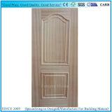 Folheado de madeira real série convexa dobro da pele moldada da porta de HDF