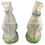 動物の整形磁器のウサギ、イースターウサギ