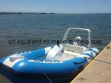 Aqualand 14pieds 4,2 m bateau gonflable rigide en fibre de verre/bateau à moteur (RIB420B)