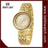 Montre imperméable à l'eau de quartz de courroie de loisirs de tendance de mode de montre de personnalité de dames de Belbi