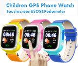 Втройне-Располагать вахту отслежывателя GPS малышей франтовской с цветастым экраном D15