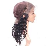 Parrucca brasiliana diritta serica dei capelli del merletto di Dlme della frangia piena naturale della parte anteriore