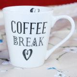 La tazza e le tazze di ceramica Plain la tazza di caffè di ceramica bianca