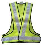 Colete de segurança reflexivo com fita de PVC e tecido de malha