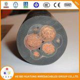 熱い販売0.6/1kv 3.6/6kvの適用範囲が広いゴムによっておおわれる採鉱ケーブル