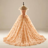 Desligar o cordão de ombro Lace Prom Quincearean vestido à noite