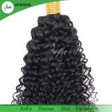 A ONDULAÇÃO Kinky preto natural Remy Hair trama humanos brasileiros
