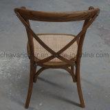 純木のスタック可能結婚式の十字の背部椅子