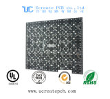 Placa PCB negro de 2 capas de luz LED