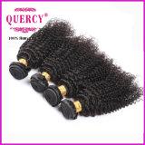 カンボジアのバージンの毛8Aの等級の織り方の美の黒人女性のためのねじれたカーリーヘアーのよこ糸