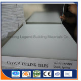 알루미늄 호일을%s 가진 PVC에 의하여 박판으로 만들어지는 석고 천장 Tiles/PVC 석고 틀린 천장