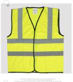 Fluro amarillo reflectante de alta visibilidad Chaleco táctico de la guillotina de la herramienta de retardante de llama Dri FIT Chaleco reflectante de seguridad para los adultos con cinta reflectante, chaleco de seguridad