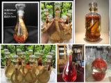 Kristallentwurfs-bleifreie Glasflasche für weißen Wein oder Alkohol