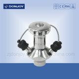 válvula 316L de preparação de amostras apertada manual asséptica para a farmácia do leite da cerveja