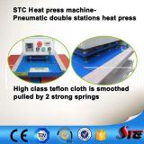 Máquina neumática automática de la prensa del calor de la sublimación de las estaciones del doble del certificado del CE para la camiseta